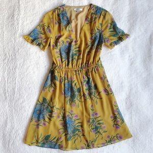Madewell Sweetgrass Ruffle Sleeve Dress